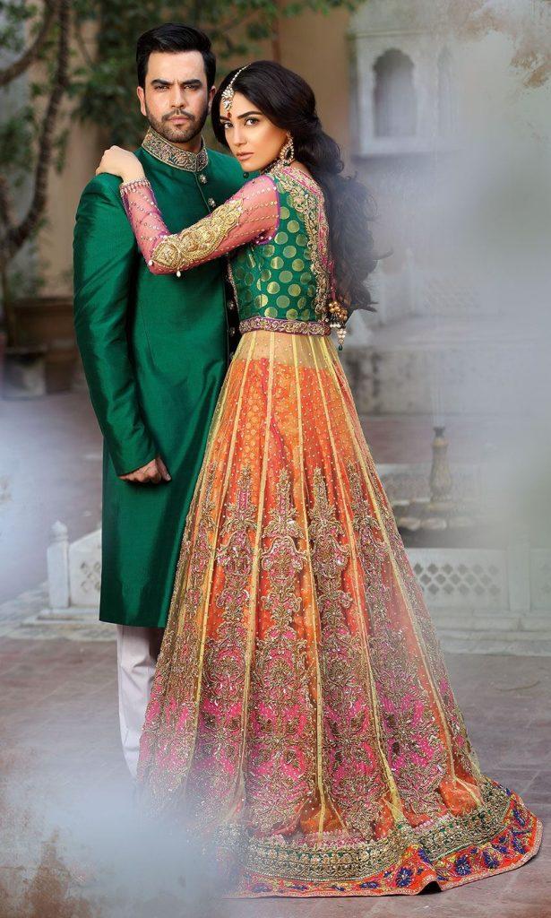 Mainstream Bridal Mehndi Dresses 2019 Beautiful Designs