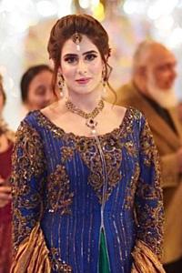 Persian Blue Gown Harvest Gold Dupata Elf Green Inner